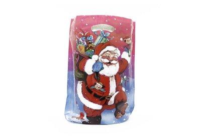 Plastic kerst draagtassen happy santa