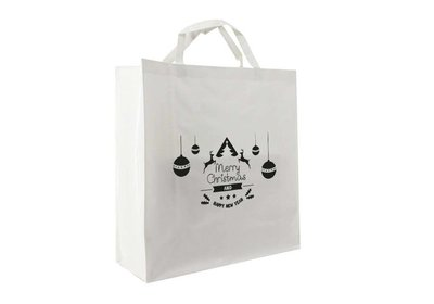 PP shopper Kerst happy deer wit