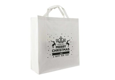 PP shopper Kerst best wisher wit