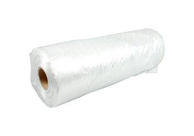 Kledinghoezen plastic l.d.p.e wit op rol á 150stuks