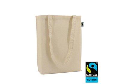 Katoenen Fairtrade draagtas ecru