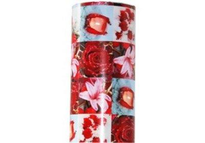 Kadopapier 30 cm 200 meter kerst bloemen