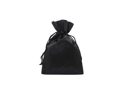 Satijnen zakje zwart á 250 stuks