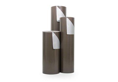 Kadopapier 30/50 cm 200 meter dubbelzijdig bruin/zilver