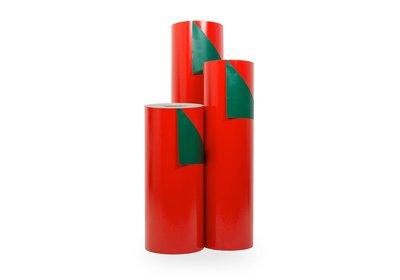 Kadopapier 30/50 cm 200 meter dubbelzijdig rood/groen