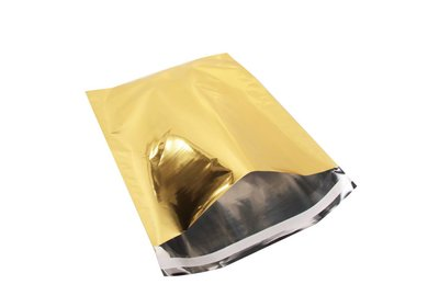 Luxe geschenk/ verzendzakken Metallic Folie goud á 25 stuks