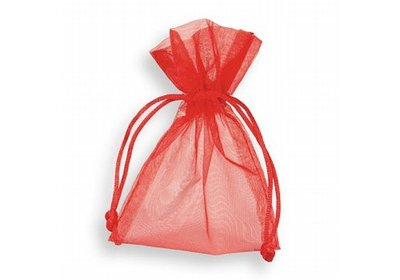 Organza zakjes rood á 50 stuks
