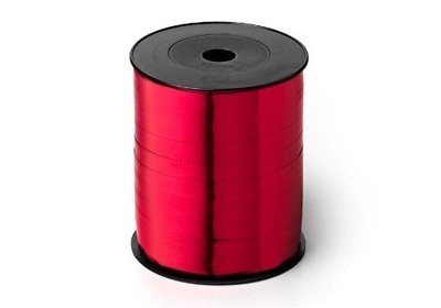 Krullint 10mm 250m metallic rood