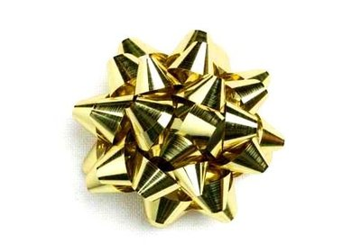 Starbow groot metallic goud 100 stuks