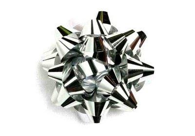 Starbow groot metallic zilver 100 stuks