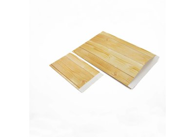 Luxe Kraft zakjes Wood á 250 stuks