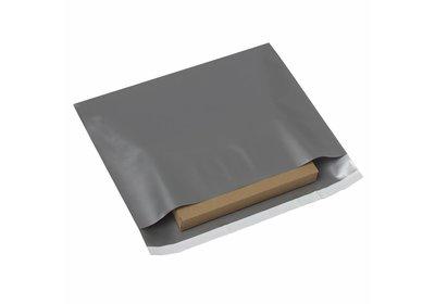 Plastic budget verzendzakken Zilver á 250 stuks