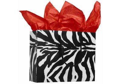 Zebra luxe budget Papieren koorddraagtas  á 100 stuks