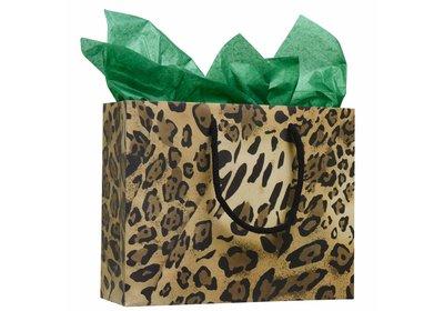 Leopard luxe budget Papieren koorddraagtas  á 100 stuks