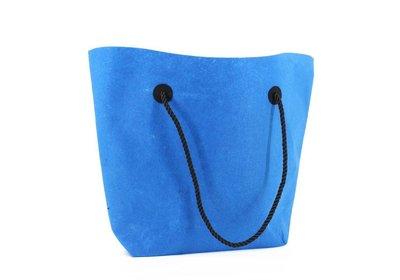 Vilt draagtas luxe shopper Blauw