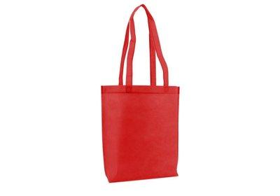Non Woven draagtas met lus Rood