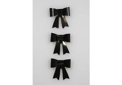 Vlinderstrikje zwart 50 stuks