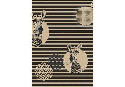 Kadopapier 30/50 cm 250 meter design Zebra  Recycled paper
