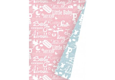 Kadopapier 30/50 cm 200 meter Baby  Coated paper