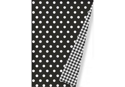 Kadopapier 30/50 cm 175 meter Dots zwart Coated paper