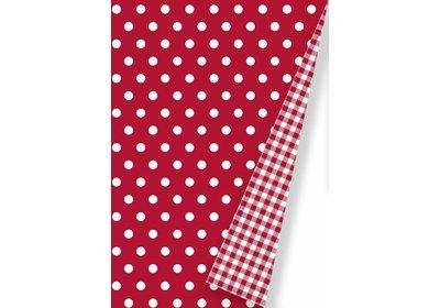 Kadopapier 30/50 cm 175 meter Dots rood Coated paper