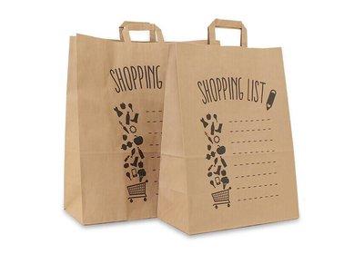 Papieren lus draagtas Shoppinglist