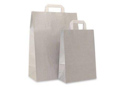 Papieren lus draagtas zilver