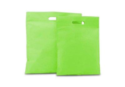 Non Woven tas gestanste handgreep groen