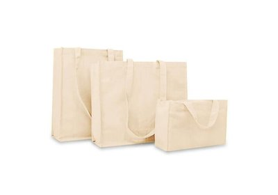 Canvas Eco Shopper draagtas Ecru