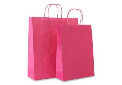 Papieren budget twisted draagtas Roze vanaf € 0,17 per stuk
