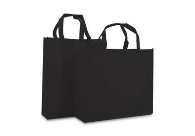Non Woven Shopper brede bodem Zwart