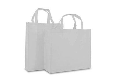 Non Woven Shopper brede bodem Wit