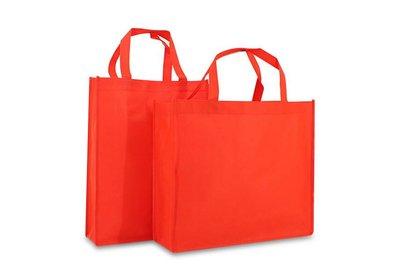 Non Woven Shopper brede bodem Rood