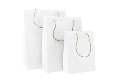 Zero Tree Eco draagtas papier/katoen/gras/jute Wit