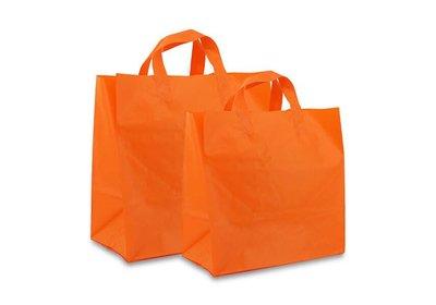 Plastic lus draagtas Take Away Oranje