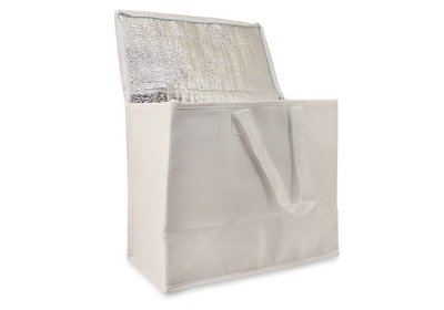 Non Woven draagtas met lus - Koeltas Wit