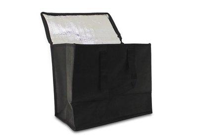 Non Woven draagtas met lus - Koeltas Zwart