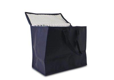 Non Woven draagtas met lus - Koeltas Blauw