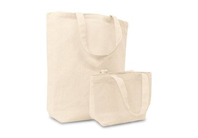 Canvas Eco Tote bag met korte lussen