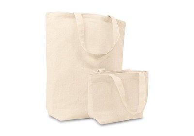 Canvas Eco Tote bag met korte lussen