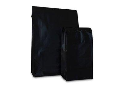 Plastic verzendzak brede bodem zwart