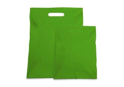 Plastic verzendtas groen