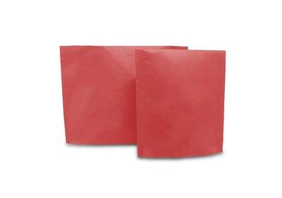 Papieren verzendzak brede bodem rood
