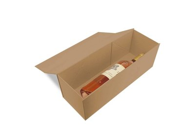 Luxe magneet doos bruin voor 1 fles