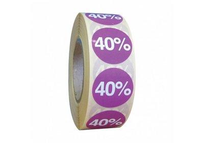 Etiketten rond 25mm á 1.000 stuks  5 kleuren + kortingspercentages