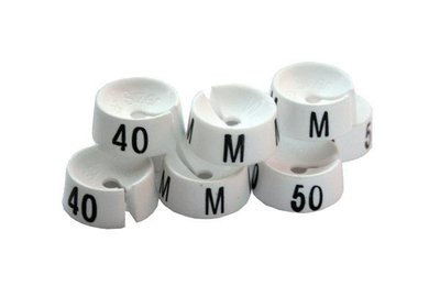 Mark-brics maatdopjes wit XXS t/m 3XL verpakt á 25 stuks
