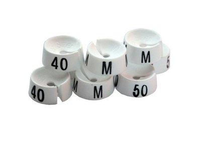 Mark-brics maatdopjes wit 36 t/m 52 verpakt á 25 stuks