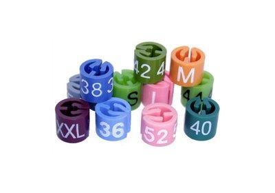 Mark-brics maatdopjes gekleurd  XS t/m XXXL verpakt á 100 stuks