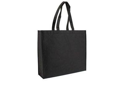 Eco papieren draagtas zwart Kraft met Non Woven