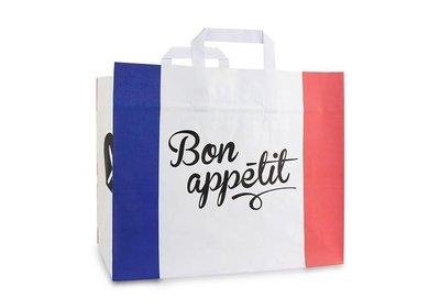 Papieren lus draagtas take away Bon appetit